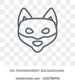 Shiba Inu dog icon. Trendy flat vector Shiba Inu dog icon on transparent background from dogs collection. High quality filled Shiba Inu dog symbol use for web and mobile