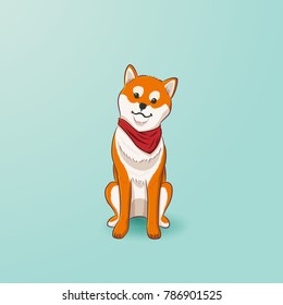 Shiba Inu dog illustration