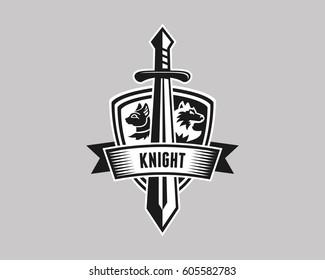 Shield Animal Icon & Sword