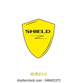 Shield Badge Logo Vector Icon Stock Vector Royalty Free 488470801