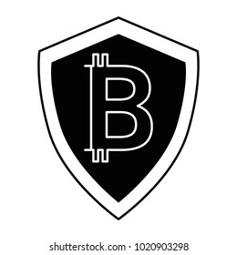 shield with bitcoin icon