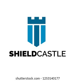 Shield Castle Logo Design Inspiration, Vector illustration