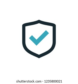 shield check mark icon medical security symbol logo template
