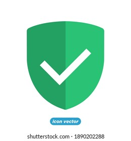 Shield Check Mark icon template color editable. Shield Check symbol vector illustration for graphic and web design.