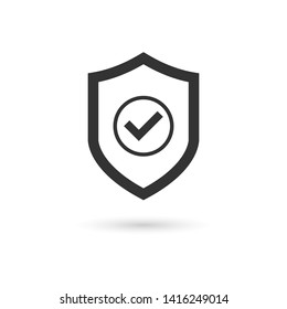 Shield Check Mark Icon Vector Illustration