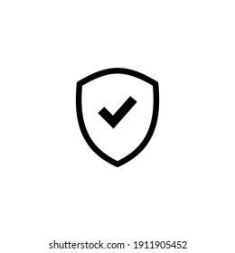 Shield check mark icon vector illustration. Eps10