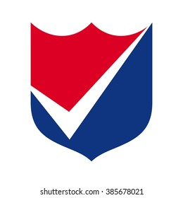 shield and check mark. symbol. icon. logo vector.