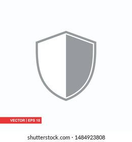 Shield flat icon on white background, vector illustration