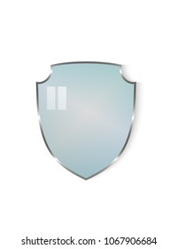 Shield glass isolated