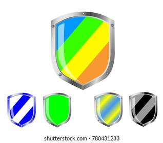 Shield, guard, icon vector, filled flat sign, isolated on white. Symbol, logo illustration.