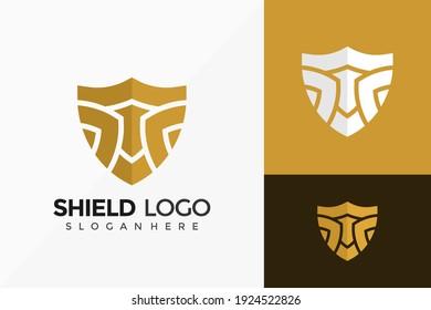 Shield Home Protect Logo Design. Modern Idea logos designs Vector illustration template