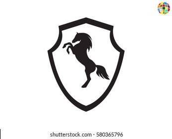 Shield horse, icon, vector illustration eps10