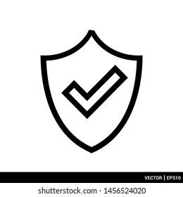 Shield icon flat style design logo vector illustration. EPS 10