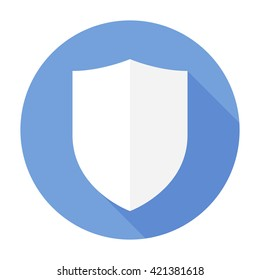 Shield Icon flat vector arms secure sign/symbol. For mobile user interface