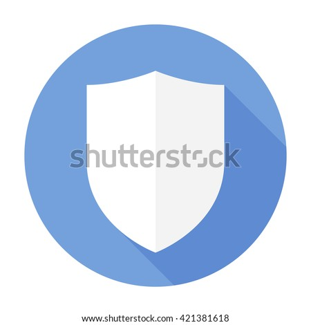Shield Icon Flat Vector Arms Secure Stock Vector Royalty Free