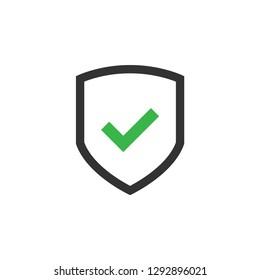 Shield icon graphic design template vector isolated