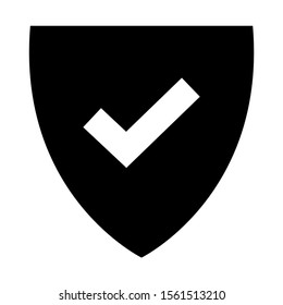 shield icon isolated sign symbol vector illustration - high quality black style vector icons