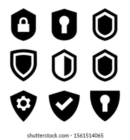shield icon isolated sign symbol vector illustration - Collection of high quality black style vector icons