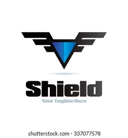 Shield Icon Logo Element