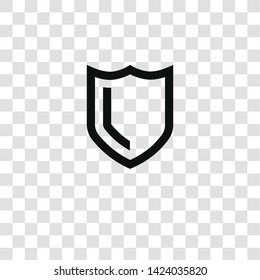 shield icon from miscellaneous collection for mobile concept and web apps icon. Transparent outline, thin line shield icon for website design and mobile, app development