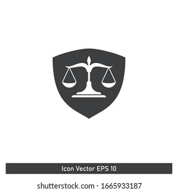 Shield Icon Protection and Justice Symbol Design Element Logo Template