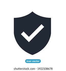 shield icon. Security symbol template for graphic and web design collection logo vector illustration