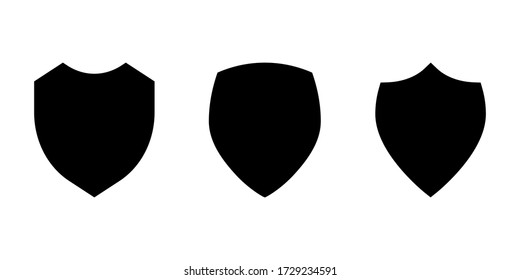 Shield icon set isolated on white background. Vector illustration
