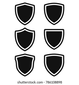 shield icon set, protect guard shield illustration, security icon