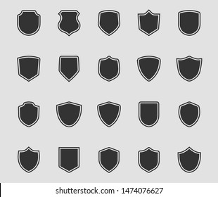 Shield icon set vector. Safe and protect logo.