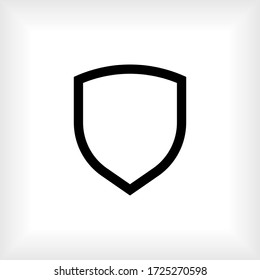 Shield Icon. Sign of Protection,Guard and Security. Insurance or Immunity Symbol - Vector.