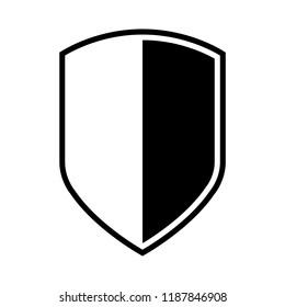 Shield icon, silhouette, logo on white background