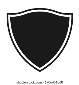 Shield icon template isolated. logo design, flat syle  color editable vector illustration