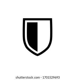 Shield icon in trendy flat design