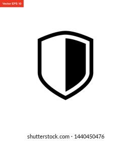 shield icon vector design template