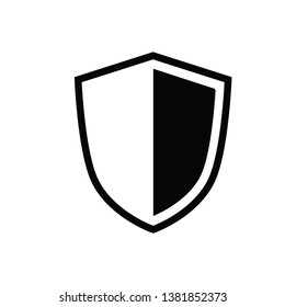 shield icon vector flat style collection