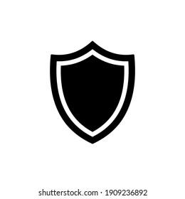 Shield icon vector. Guard icon in trendy flat design