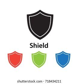 Shield icon vector illustration.