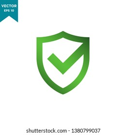 shield icon vector logo template