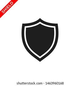 shield icon vector logo template, secure icon