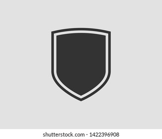 Shield icon vector. Safe and protect logo.