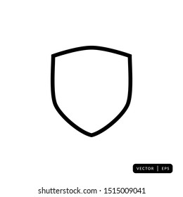 Shield Icon Vector - Sign or Symbol
