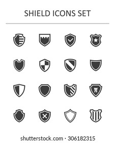 Shield icons set.