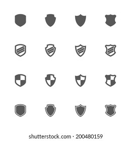 Shield icons, vector.