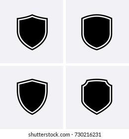 Shield Icons. Vector set