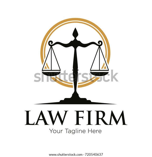Shield Law Firm Logo Vector Template Stock Vector (Royalty Free