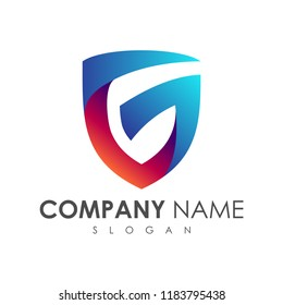 Shield Letter G Logo, Protection And Care Logo, Guardian Symbol