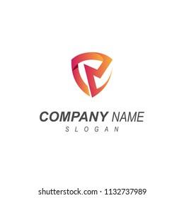Shield Letter R Logo