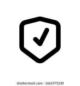 shield line icon, outline vector logo illustration, linear pictogram isolated on white background - simple icon