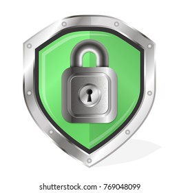 Shield with lock for protection vector