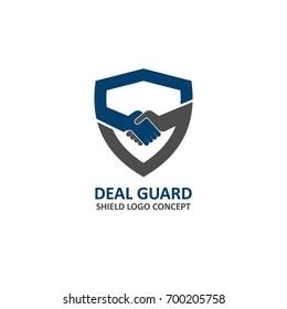 shield logo abstract symbol of security vector